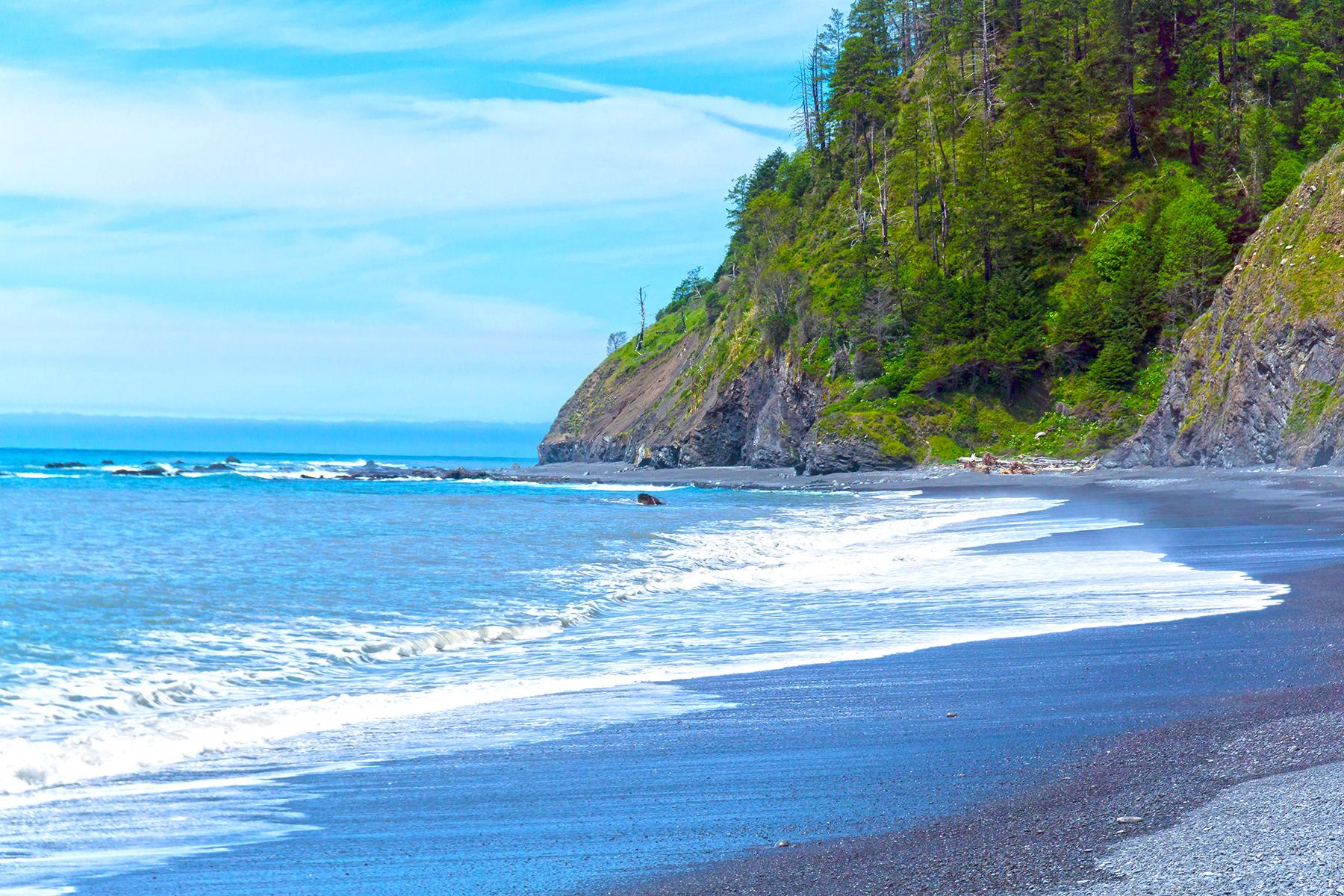 Black Sand Beach on the Lost Coast