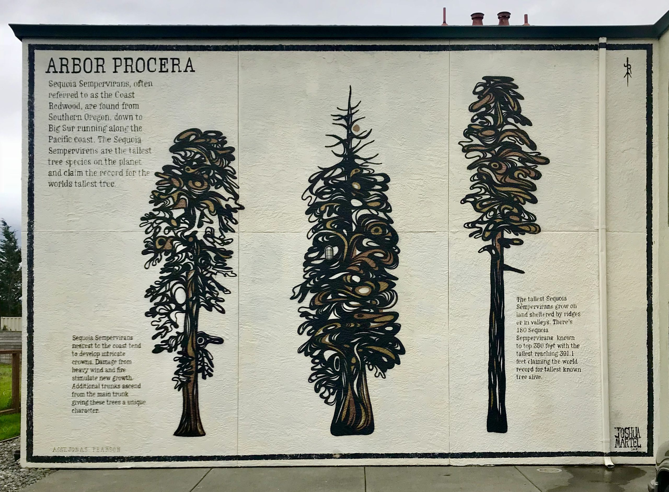 mural of trees