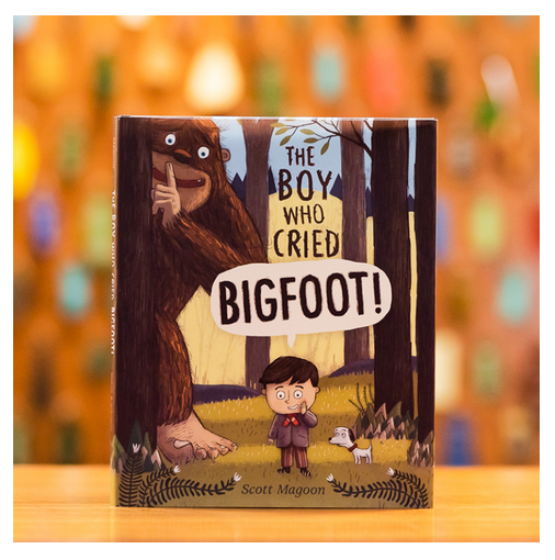 Kids book about Bigfoot at the Redwood's Mercantile giftshop